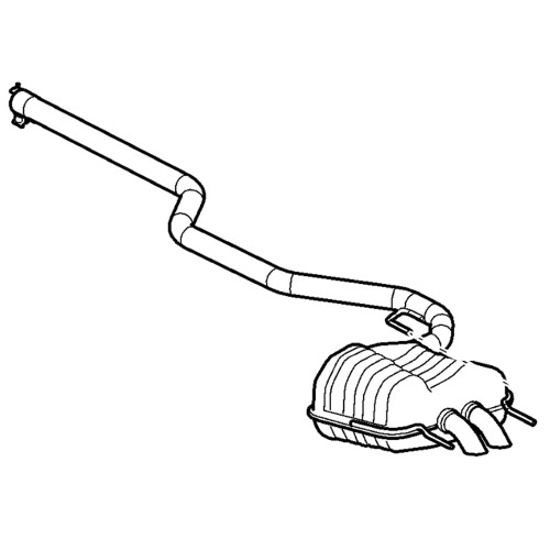 Genuine Saab Cat-Back Exhaust System